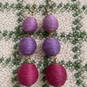Purple tier babbled earrings